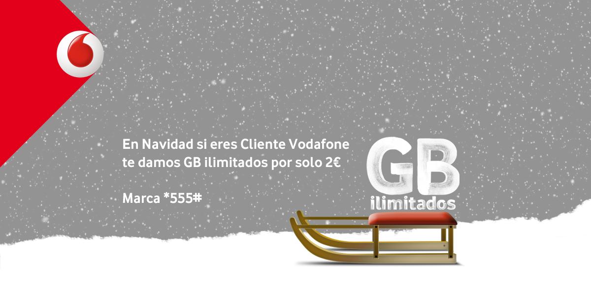 Gigas ilimitados Vodafone
