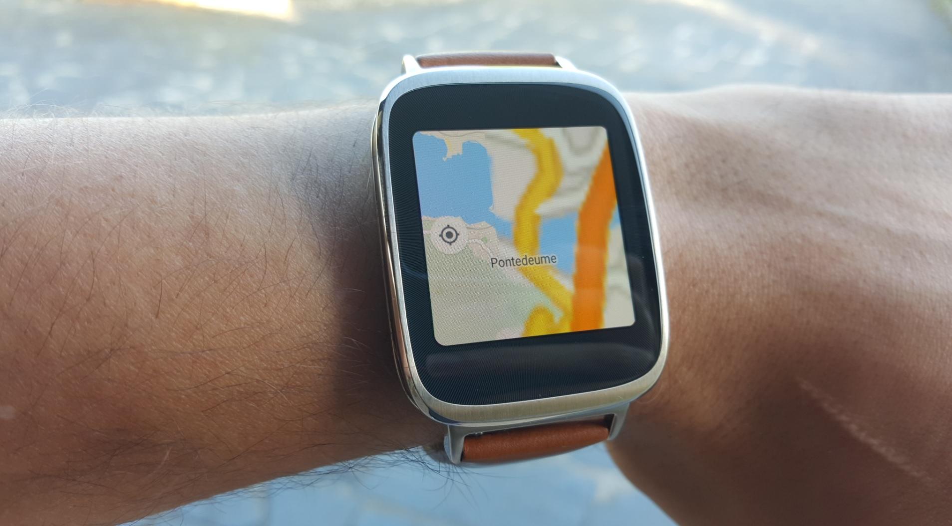 asus zenwatch maps