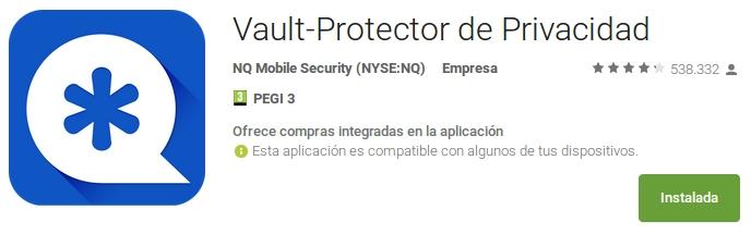vault-protector de privacidad