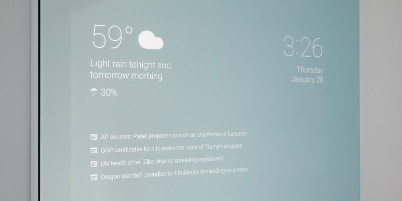 Un enxeñeiro de Google crea un espello intelixente