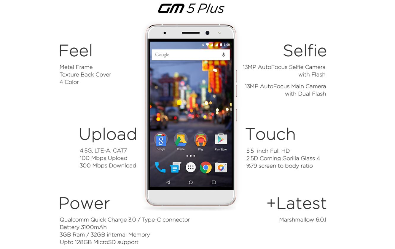 general mobile 5 plus - 2