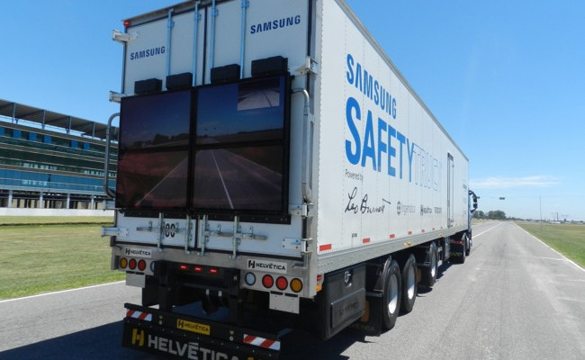 Safety Truck, o invento de Samsung para reducir os perigos dos adiantamentos