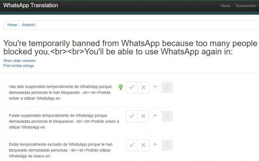 whatsapp bloqueos