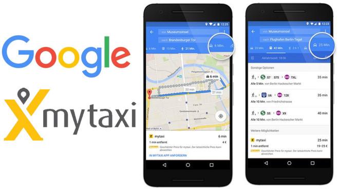 Google Maps mytaxi