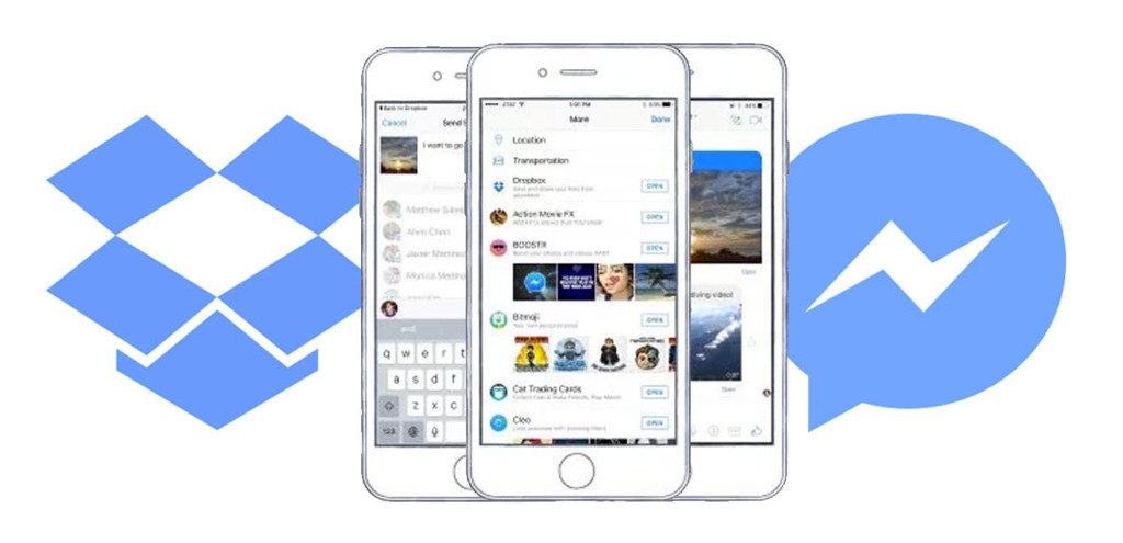 fb messenger dropbox