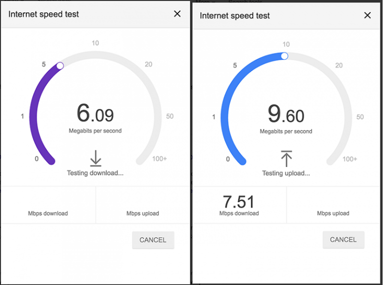 test velocidade google